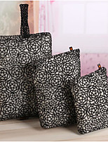 cheap -Women Bags PU Bag Set 3 Pcs Purse Set Zipper for Casual All Season Black