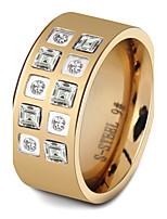 Жен. Классические кольца Цирконий Цирконий Титановая сталь Бижутерия Назначение Свадьба Для вечеринок