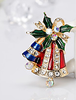 Men's Women's Brooches Rhinestone Simple Basic Rhinestone Alloy Tree of Life Jewelry For Christmas