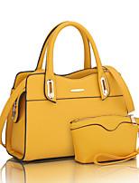 preiswerte -Damen Taschen PU Bag Set 2 Stück Geldbörse Set Reißverschluss für Hochzeit Formal Alle Jahreszeiten Blau Schwarz Rote Beige Gelb