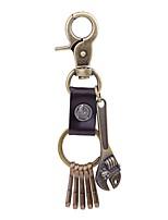 Keychains Jewelry Leather Alloy Irregular Rock Cool School Street