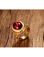 cheap -Men's Band Rings Synthetic Ruby Vintage Rock Titanium Circle Jewelry For Halloween Daily Ceremony