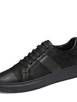 cheap -Men's Shoes Nappa Leather Winter Fall Comfort Sneakers for Casual Outdoor Black