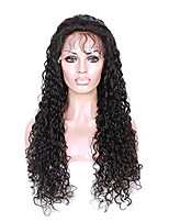 Women Human Hair Lace Wig Peruvian Remy Glueless Lace Front 150% Density With Baby Hair Curly Wig Black Short Medium Length Long Virgin
