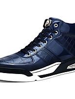 Недорогие -Для мужчин обувь Полиуретан Весна Осень Удобная обувь Кеды Назначение Повседневные Черный Синий