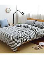 Duvet Cover Sets Contemporary 4 Piece Cotton Cloth Reactive Print Cotton Cloth 1pc Duvet Cover 2pcs Shams 1pc Flat Sheet