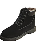 cheap -Women's Shoes PU Spring Fall Comfort Boots For Outdoor Army Green Black