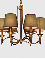 cheap -Retro/Vintage Country Traditional/Classic Chandelier For Living Room Bedroom Shops/Cafes AC 110-120 AC 220-240V Bulb Not Included