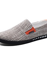 Для мужчин обувь Лён Весна Осень Удобная обувь Мокасины и Свитер Назначение Повседневные Черный Коричневый Синий