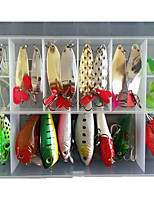 21 pcs Metal Bait Spoons Frog Minnow Crank Popper Lure Packs g/Ounce mm inch,Plastic Sea Fishing Bait Casting Freshwater Fishing Other
