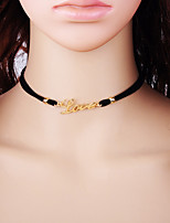 cheap -Women's Circle Fashion Choker Necklace Alloy Choker Necklace , Gift Daily