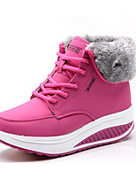 cheap -Women's Shoes PU Spring Fall Comfort Boots For Casual Light Blue Fuchsia Yellow