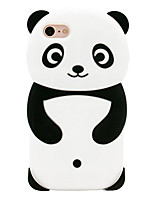 cheap -Case For iPhone 7 Apple iPhone 8 iPhone 7 Pattern Back Cover Panda Soft Silicone for iPhone 8 iPhone 7