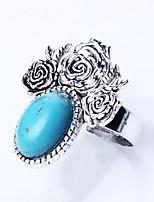 Men's Women's Band Rings Turquoise Vintage Basic Turquoise Alloy Irregular Jewelry For Daily