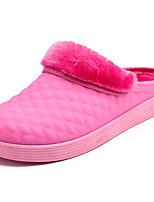 Women's Shoes Fleece Winter Comfort Slippers & Flip-Flops Flat Heel Round Toe for Outdoor Purple Pink Light Blue
