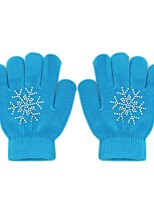 cheap -Ski Gloves Kid's Full-finger Gloves Keep Warm Waterproof Breathable Knitwear Ski / Snowboard Winter