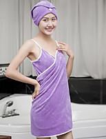 Robe de chambre Pyjamas Femme,Solide Coton Polyester Bleu Rose Claire Violet Fuchsia