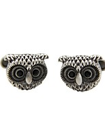 Cufflink Tie Bar Tie Clip  Copper Retro/Vintage Owl Cufflinks Party Gift Men's