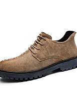 cheap -Men's Shoes Nappa Leather Winter Fall Comfort Oxfords for Casual Office & Career Brown Gray Black