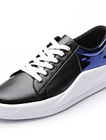 cheap -Men's Shoes PU Spring Fall Comfort Sneakers For Casual Gold Silver Blue