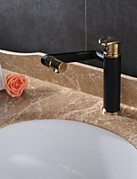Antique Deck Mounted Rotatable with  Ceramic Valve Single Handle One Hole for  Oil-rubbed Bronze , Bathroom Sink Faucet