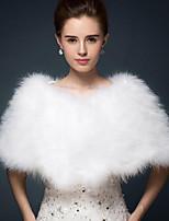 Sleeveless Faux Fur Wedding Party / Evening Women's Wrap Ponchos