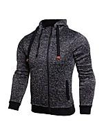 billige -Herre Løbe-T-shirt Langærmet Trener Vandring Toppe for Løbe Træning & Fitness Rayon Polyester Tynd Sort Grå S M L XL XXL