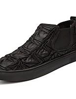 Для мужчин обувь Полиуретан Весна Осень Светодиодные подошвы Мокасины и Свитер для Повседневные Черный Черно-белый