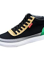 cheap -Men's Shoes Fabric Spring Fall Light Soles Sneakers For Casual Black/Red Dark Grey Black