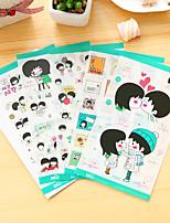 cheap -5 Pcs/Set Couple Diary Sticker Phone Sticker Scrapbook Stickers