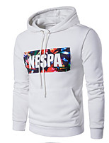 cheap -Men's Daily Going out Hoodie Print Hooded Micro-elastic Polyester Long Sleeves Winter Fall