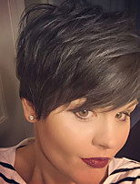 cheap -Women Human Hair Capless Wigs Beige Blonde//Bleach Blonde Medium Auburn Natural Black Short Straight Side Part