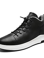 Men's Shoes Synthetic Microfiber PU Winter Light Soles Sneakers For Casual Black