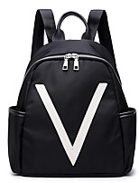 Women Bags All Season Oxford Cloth Backpack Zipper for Outdoor Black
