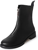 abordables -Mujer Zapatos Goma Invierno Botas de Combate Botas Dedo redondo Para Negro