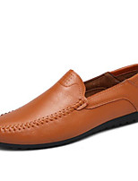 Men's Shoes PU Spring Fall Comfort Loafers & Slip-Ons For Casual Brown Yellow Black White