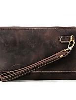 Herren Taschen Kuhfell Unterarmtasche Reißverschluss für Normal Alle Jahreszeiten Braun