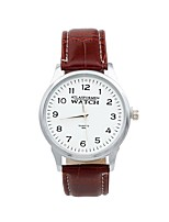 cheap -Men's Women's Casual Watch Quartz Leather Band Brown