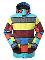 Herrn Skijacke Warm Wasserdicht Windundurchlässig tragbar Atmungsaktivität Skifahren Ski umweltfreundlich Polyester Seide Kleidung