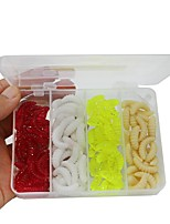 100 pcs Soft Bait g/Ounce mm inch,Plastic Bait Casting Freshwater Fishing Lure Fishing General Fishing