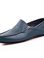 Homme Chaussures Cuir Printemps Automne Confort Mocassins et Chaussons+D6148 Pour Décontracté Noir Marron Bleu