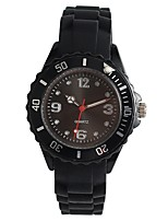 cheap -Women's Wrist watch Japanese Quartz Casual Watch Silicone Band Casual Black