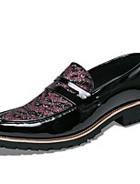 Men's Shoes Leatherette Spring Fall Comfort Loafers & Slip-Ons For Casual Black/Red Black/White