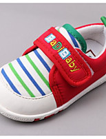 cheap -Girls' Shoes Fabric Spring Fall Comfort First Walkers Sneakers Walking Shoes Magic Tape for Casual Red Blue