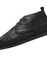 Men's Shoes PU Leatherette Winter Fall Comfort Oxfords For Casual Black