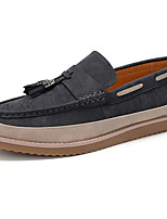 cheap -Men's Shoes PU Spring Fall Comfort Loafers & Slip-Ons For Outdoor Khaki Gray