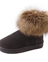abordables -Mujer Zapatos PU Primavera Otoño Confort Botas Para Negro Gris Marrón