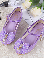 cheap -Girls' Shoes Microfibre Spring Fall Tiny Heels for Teens Heels Bowknot For Casual Purple Gold