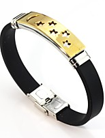 cheap -Men's Women's Link Bracelet , Sweet Lovely Leather Stainless Star Jewelry For Wedding Valentine
