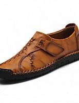 Homme Chaussures Vrai cuir Polyuréthane Hiver Automne Confort Chaussures formelles Chaussures de plongée Mocassins et Chaussons+D6148 pour
